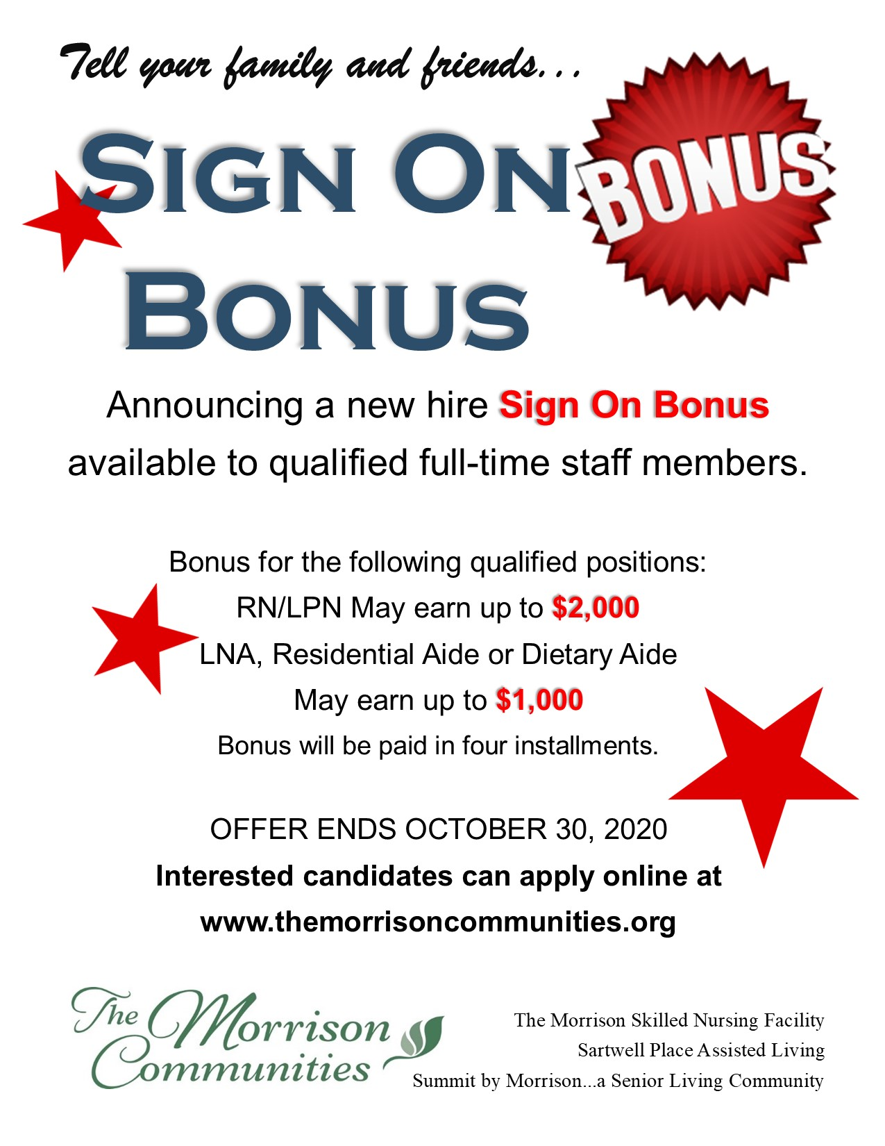 Sign On Bonus